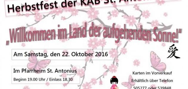 Plakat Herbstfest KAB St. Antonius