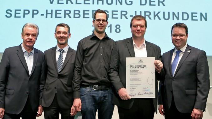 Sepp Herberger Urkunde Digital für TC Freisenbruch