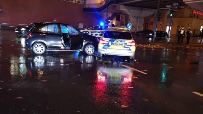 Polizeiwagen Unfall Steele