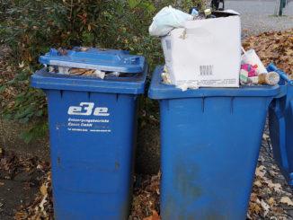 Volle Mülltonen in Freisenbruch