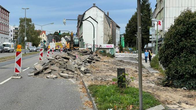 Bauarbeiten Bochumer Landstraße 2021
